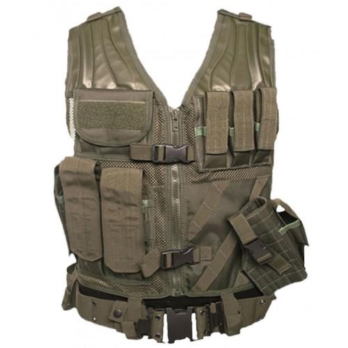 Swiss Arms USMC Combat Vest with Belt (Olive)